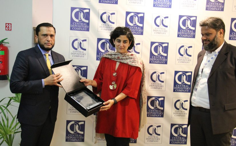Ms. Tania Aidrus, Head of Prime Minister Imran Khan's Digital Pakistan Initiative visits Central Depository Company.