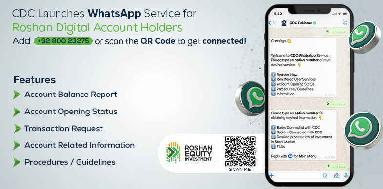 CDC launches WhatsApp service exclusively for Roshan Digital Account Holders
