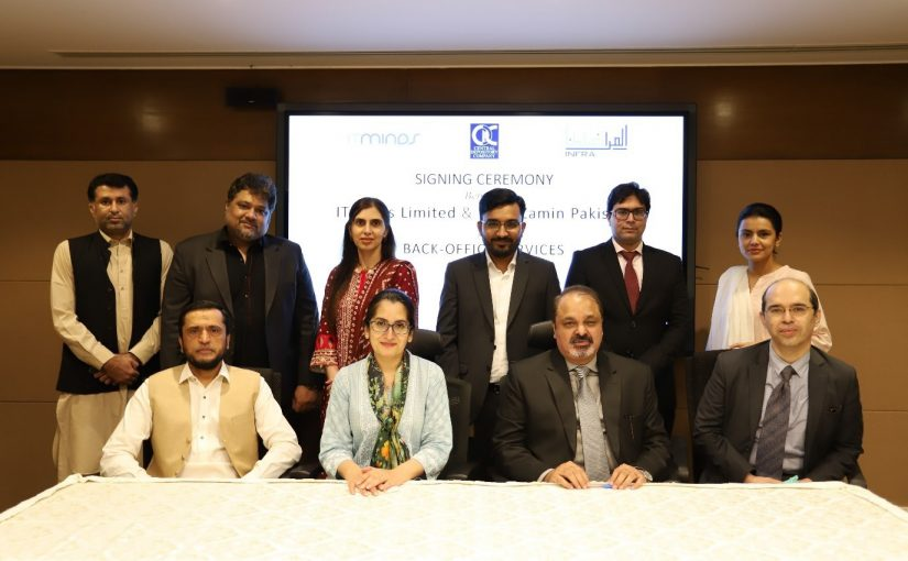 ITMinds Limited signs an agreement with InfraZamin Pakistan Limited for provisioning of Back Office Services